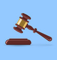 hammer judge or auction vector image