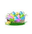 happy easter colorful vector image vector image