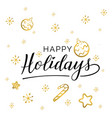 happy holidays beautiful greeting card vector image vector image
