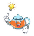 have an idea transparent teapot character cartoon vector image vector image