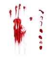 Horror blood hand and finger print vector image vector image