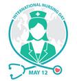 international nursing day symbol logo concept vector image vector image