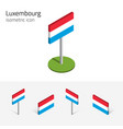 luxembourg flag set of 3d isometric icons vector image