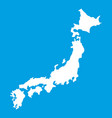 map of japan icon white vector image vector image