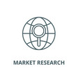 market research line icon linear concept vector image vector image