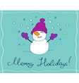 merry holidays greeting card vector image vector image