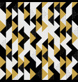 modern triangle colors gold black dots pattern vector image vector image