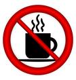 No coffee cup sign vector image vector image