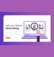 online hr best candidate concept landing page vector image