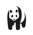 panda icon on a white background vector image vector image
