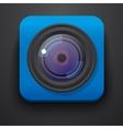 Photo camera symbol icon on blue vector image vector image