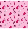 Pink and purple makeup seamless pattern for momen vector image