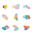 Realistic Pills Icons Set vector image vector image