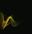 realistic smoke on black vector image vector image