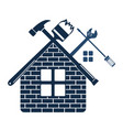 repair and maintenance of home symbol vector image vector image