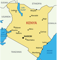 Republic of Kenya - map vector image vector image