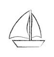 sail boat symbol vector image vector image