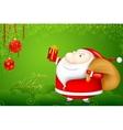 Santa with Christmas Gift vector image