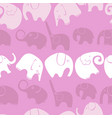 seamless pattern with stylized elephants vector image
