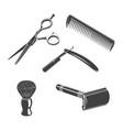set barbershop things vector image