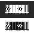 Set monogram logo 2020 number and text happy new