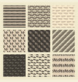 set of 9 styled ultimate hand drawn seamless vector image vector image