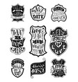 set of handwritten love lettering in badges vector image