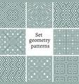 set of ornamental patterns for backgrounds vector image vector image