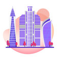 skyscrapers modern city office buildings in the vector image