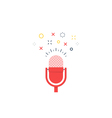Talk show podcast icon and logo vector image vector image