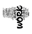 test are you a work slave text background word vector image vector image