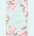 tulip butterfly rsvp vector image vector image