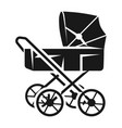 vintage baby stroller icon simple style vector image vector image