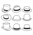 vintage hats icons vector image vector image