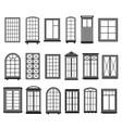 window frames vintage framing windows blank vector image