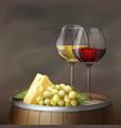 wine still life vector image vector image