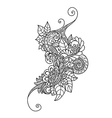 Zentangle floral pattern Hand drawn design element vector image vector image