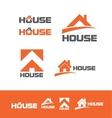 House real estate logo icon set vector image