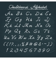 Hand drawn chalkboard alphabet vector image
