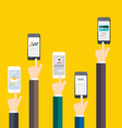 People holding a phone Business flat vector image