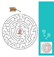 labyrinth with arrows - game with vector image