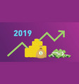 2019 new year company financial finance target vector image vector image