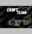 a dirty banner car background in grunge style vector image vector image