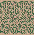 a seamless pattern with leaf background vector image vector image