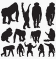 ape silhouettes vector image vector image
