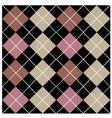 Argyle Black Seamless Pattern Design vector image