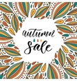 Autumn Sale calligraphy on bright background Hand vector image vector image