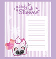 baby shower blank card vector image vector image
