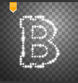 bitcoin on the transparent background with vector image