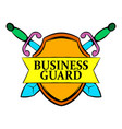 business guard icon cartoon vector image
